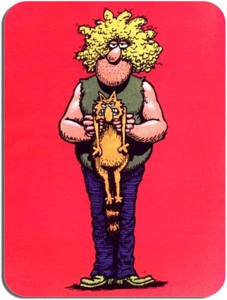 Freak Brothers Fat Freddy and Cat Mouse Mat. Mouse Pad
