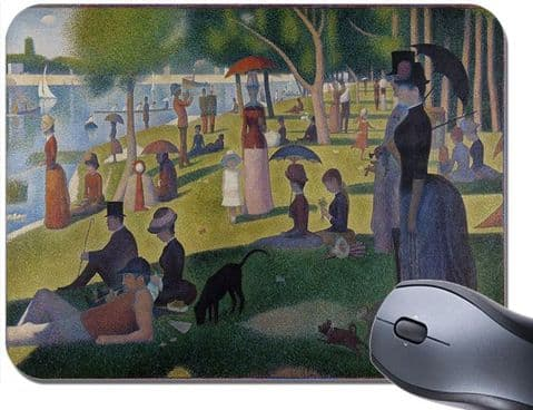 Georges Seurat A Sunday On The Island of La Grande Jatte Mouse Mat Mouse Pad