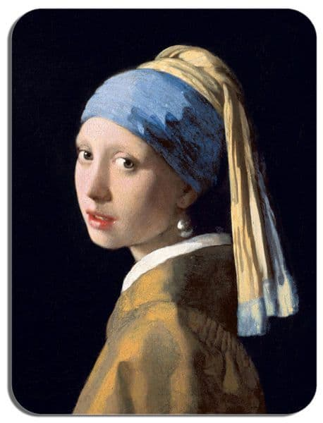 Girl with a Pearl Earring Mouse Mat. High Quality Jan Vermeer Art Mouse Pad Gift
