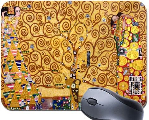 Gustav Klimt The Tree of Life Mouse Mat. Vintage Art High Quality Mouse Pad