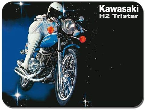 H2 Mach IV 750cc Tri-Star 1972 Mouse Mat. Motorcycle High Quality Mouse Pad