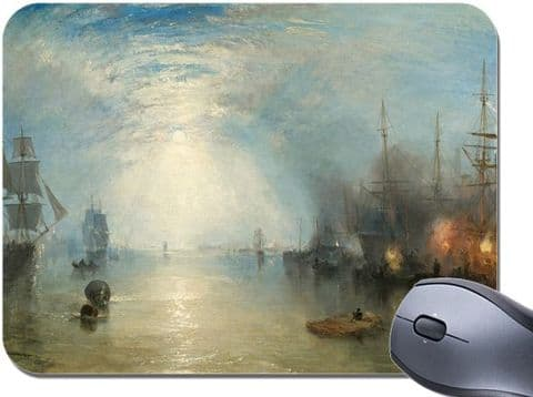 JMW Turner Keelmen Heaving in Coals by Moonlight Mouse Mat. Quality Mouse Pad