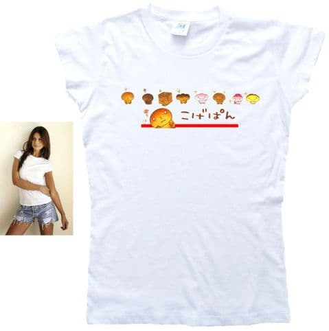 Kogepan Bread Characters T-Shirt. Ladies, Gents & Kids Sizes. Burnt Bread Man