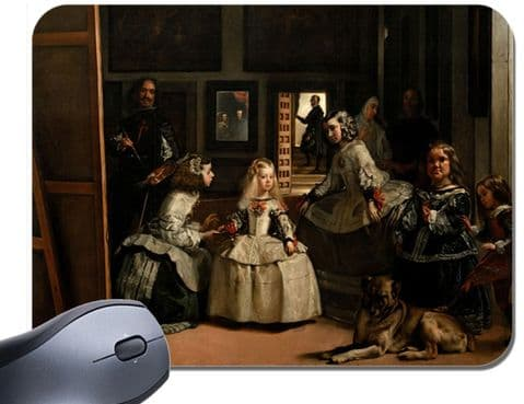Las Meninas Diego Velázquez Mouse Mat. Ladies In Waiting High Quality Mouse Pad