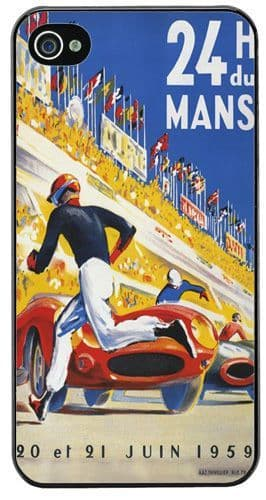 Le Mans 1959 Race Poster Cover/Case For iPhone 4/4S. 24hrs Races Airline Print