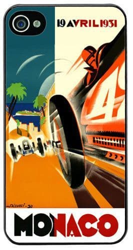 Monaco Grand Prix 1931 Cover/Case For iPhone 4/4S. Vintage Poster Car Race Gift