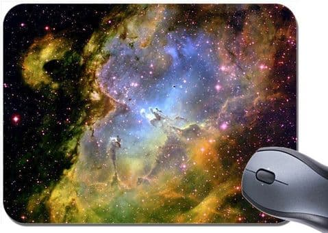 Nebula  Mouse Mat. Space Universe Galaxy Planet High Quality Mouse Pad. Astronomy