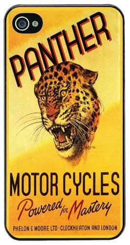 Panther Motorcycles Ad Cover/Case For iPhone 4/4S. Vintage Motorbike Biker Gift