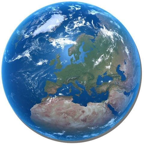 Planet Earth Round Mouse Mat. Earth From Space Mouse pad
