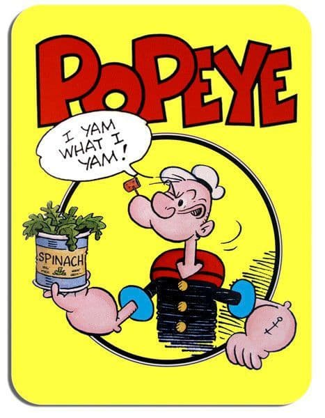 Popeye Mouse Mat Cartoon Animation Comic Novelty Mouse pad