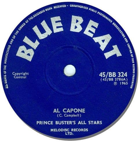 Prince Buster's All Stars Al capone Round Mouse Mat. Blue Beat Reggae Mouse pad