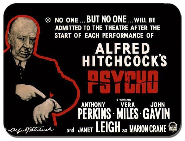 Psycho Movie Mouse Mat C High Quality Film Poster Mouse Pad Alfred Hitchcock