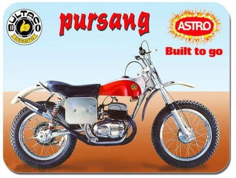 Pursang Astra Motorbike Mouse Mat. Classic Motorcycle Trail Bike Mouse pad Gift