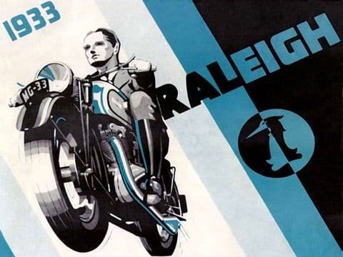 Raleigh Vintage Motorbike T-Shirt. Gents, Ladies & Kids Sizes. Biker Motorcycles