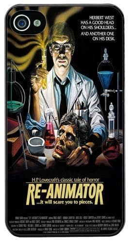 Re-Animator Horror Movie Film Poster Cover/Case Fits iPhone 4/4S HP Lovecraft