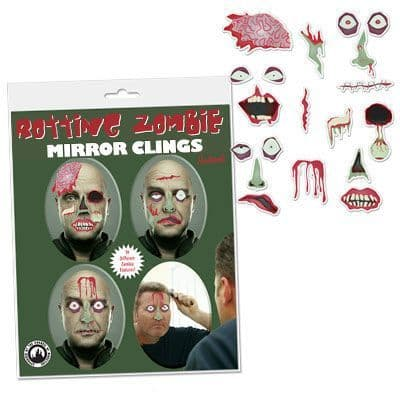 Rotting Zombie Mirror Clings