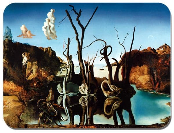 Salvador Dali Swans Reflecting Elephants  Mouse Mat. High Quality Fine Art Mouse Pad