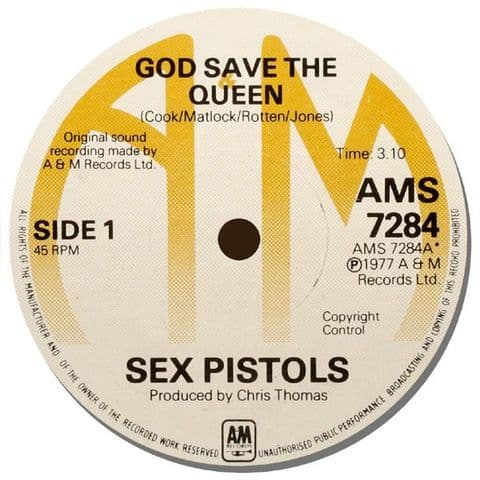 Sex Pistols Record Label Mouse Mat.  God Save The Queen Mouse pad