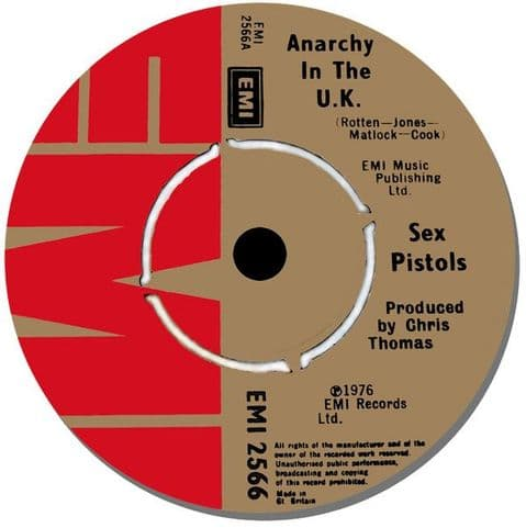 Sex Pistols Record Label Round Mouse Mat. Anarchy In The UK Mouse pad