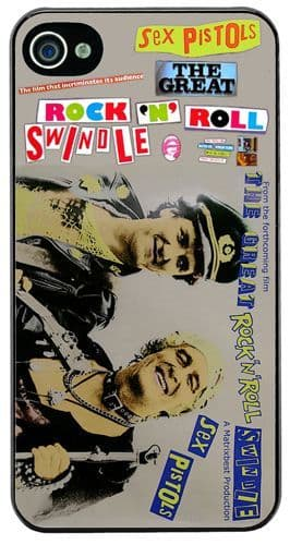 Sex Pistols Rock N Roll Swindle Punk Vintage Promo Cover/Case Fits iPhone 4/4S