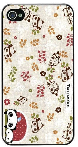 Tare Panda Embroidery Pattern HD Quality Cover Case For iPhone 4/4S Japan Kawaii