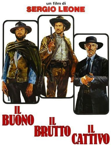 The Good The Bad and The Ugly Italian Poster T-Shirt. Film Movie Tee. 13 Sizes