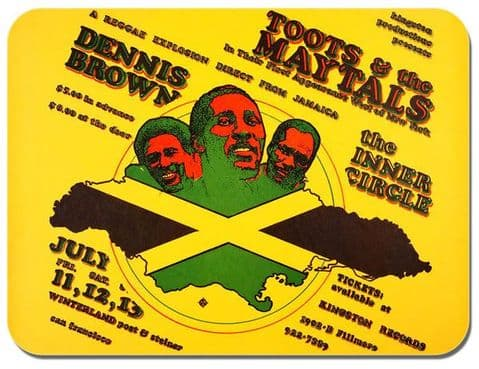 Toots & The Maytals, Dennis Brown Concert Poster Mouse Mat Reggae Mouse pad