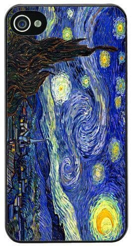 Vincent Van Gogh Starry Night High Quality Cover/Case For iPhone 4/4S. Art Gift