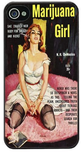 Vintage 1950's Marijuana Girl Pulp Novel High Quality Cover/Case For iPhone 4/4S