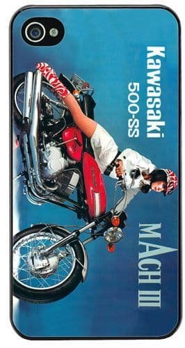 Vintage 500 H1 Mach III 3 Motorcycle Ad Cover/Case For iPhone 4/4S Motorbike