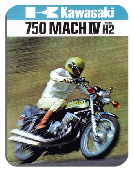 Vintage 750 H2 Mach IV 4 Ad Mouse Mat Classic Motorcycle Motorbike Mouse pad