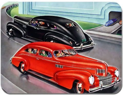 Vintage Chrysler Imperial Ad Mouse Mat. Classic American Car Poster Mouse Pad