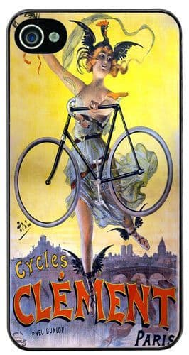 Vintage Clement Bicycle Advert High Quality Cover/Case Fits iPhone 4/4S Bike