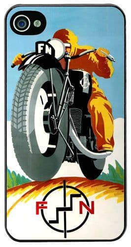 Vintage FN Motorcycle Ad Cover Case For iPhone 4/4S Motorbike Classic Bike Gift