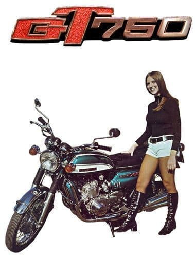 Vintage GT750 Seventies Advert Custom T Shirt 12 Sizes. Classic Bike Motorcycle