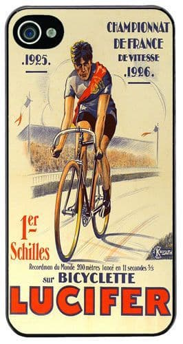 Vintage Lucifer Bicycle Ad Poster High Quality Cover/Case For iPhone 4/4S. Cycle