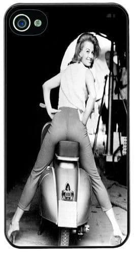 Vintage Scooter & Angie Dickinson High Quality Cover/Case For iPhone 4/4S. Soul