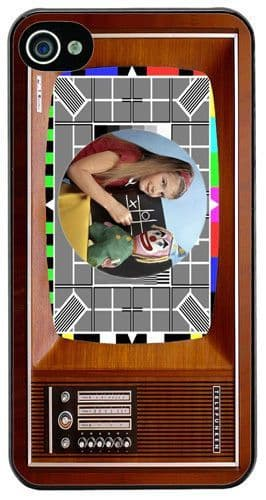 Vintage Television Cover/Case Fits iPhone 4/4S. The Test Card In Colour