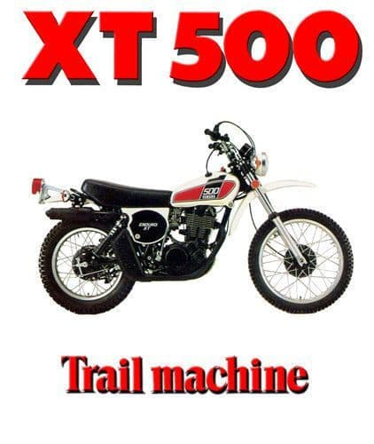 Vintage XT500 Motorcycle Biker T-Shirt. 12 Sizes. Classic Trail Bike Gift