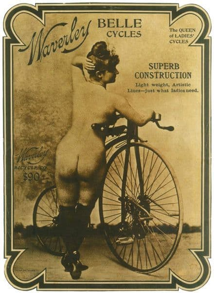 Waverley Belle Cycles Bicycle Ad Poster Cycling T Shirt Super Construction!