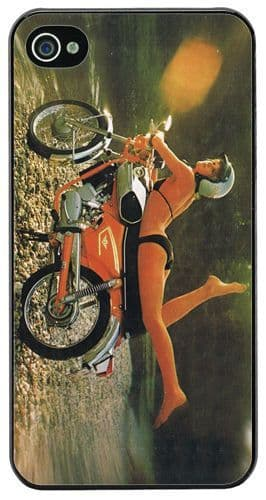 Zundapp Girl Vintage Motorcycle Advert Cover/Case For iPhone 4/4S. Classic Bike