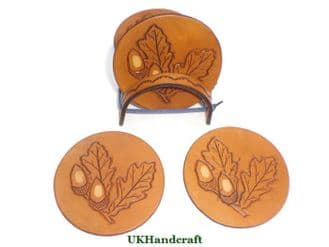 Acorn and Oak Leaf Coaster Set