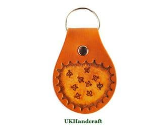 Bee  Leather Key Fob