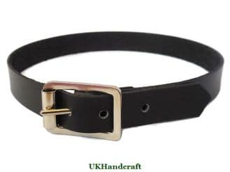Black Leather Choker with Buckle