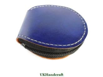 Compact Leather Coin Purse with Zip