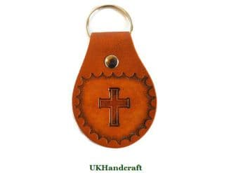 Cross Leather Key Fob