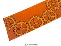 Leather Bookmark Steampunk Cog design