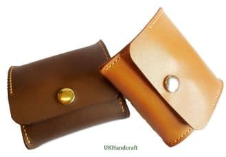 Leather Coin  Holder Purse Pop-up
