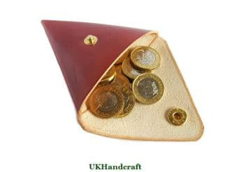 Leather Coin Purse Carry - Triangle