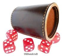 Leather Dice Shaker Game Cup